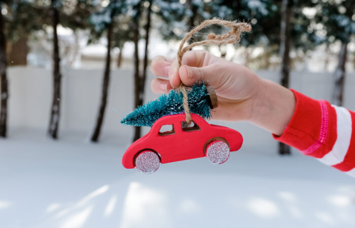 Christmas Trees on Cars:  DIY Ornament, Footprint Craft, Drawing Tutorial & More
