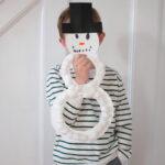 Cotton Ball Snowman Wreath