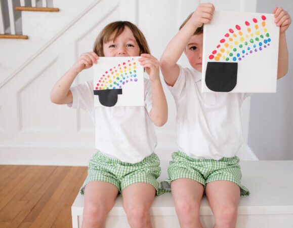A Special St. Patrick's Day Craft for Kids: Finger Print Rainbows