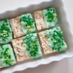 Festive St. Patrick's Day Rice Krispie Treats