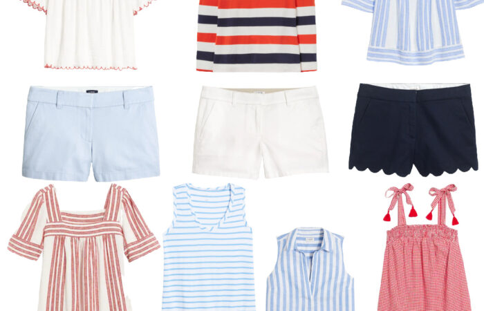 Red, White & Blue Fashion Finds for Mom