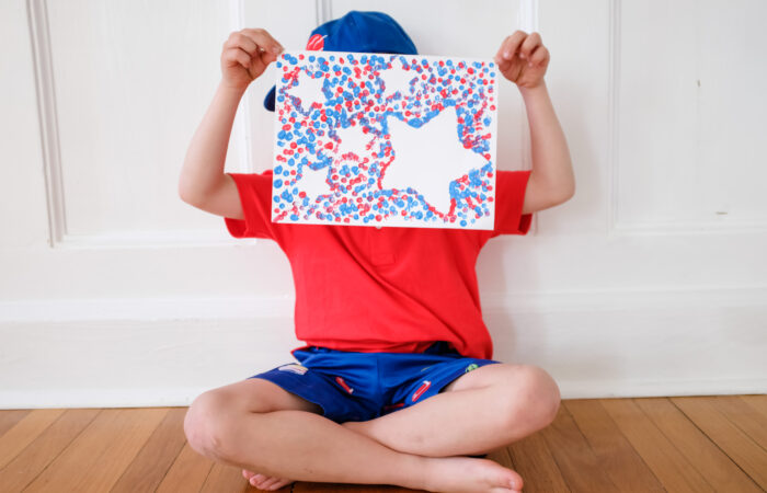 Easy Kids Craft: Q Tip Painting